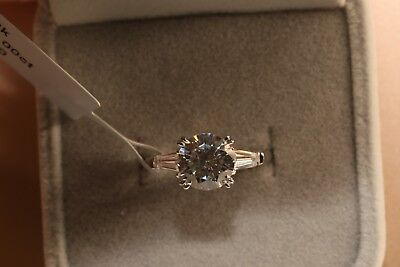2 Ct Round Cut Diamond Solitaire Engagement Ring 14K White Gold Enhanced 7
