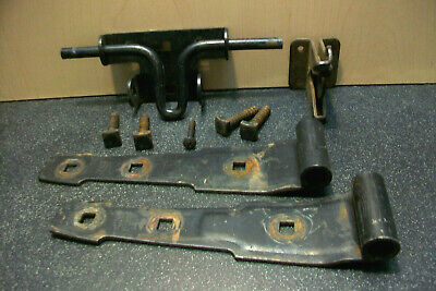 Stanley Hvy Ga Steel Slide Bolt W Lockable Gate Latch & 2 Barn Door Hinges Bolts 8