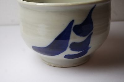 Vintage Japanese Art Studio Pottery Tea  Cup/ Bowl/ Signed 4