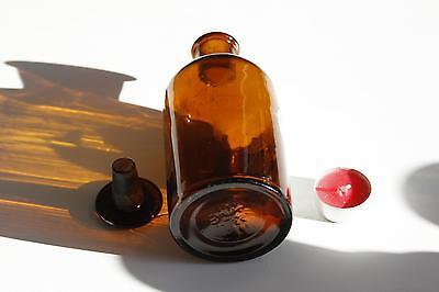 Apothekerflasche, Form selten, rund, alt, TINCT. FERRI POM. SCHLIFF STOPFEN