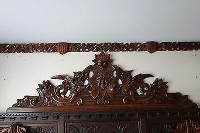 19C Venetian Gothic Fantasy Carved Oak Winged Dragon/Griffin/Gargoyle Pediment 2
