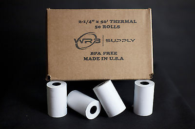 "Thermal Paper Receipt Rolls Size: 2.25"" X 50' 3"