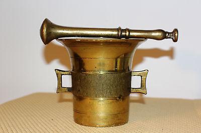 Mörser Schlegel Stössel antik Pistill Küche Pulver Deko Tabletten #6257