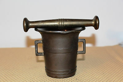 Mörser Schlegel Stössel antik Pistill Küche Pulver Deko Tabletten #6254