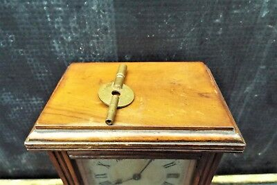 Small Red Walnut English Library Clock/timepiece
