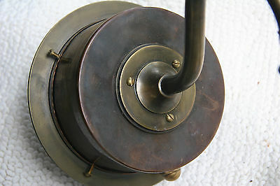 Antique Brass And Copper Nautical Lantern Red
