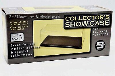 Lot 3 Boites Vitrine Show Case + Socle pour Miniatures 1/24 Neuf Boite D'origine 4