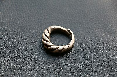 Excellent  RARE Viking SILVER Twisted Ring 9-10 AD 12