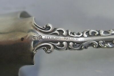 Antique 1890's Whiting Mfg. Co. Sterling Cheese Scoop With Louis XV Pattern 10