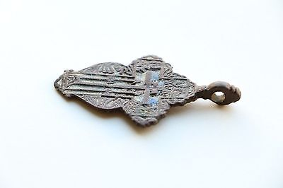 Great Authentic Cossacks Orthodox Cross with enamel and text of prayer 17-18 AD 12