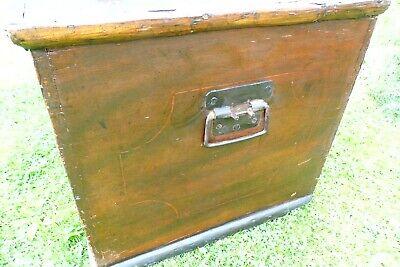 Antique Victorian Old Pine Chest / Trunk / Blanket Box c1860 9