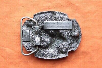 Vintage Siskiyou Buckles Co. Pewter Landing Eagle Belt Buckle 3