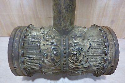 Antique Architectural Cast Iron Double Light Fixture Ornate HD Bracket Lamp 10