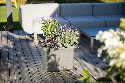 Pflanztrog Blumenkasten Bewässerungskasten mit Rollen u. Bewässerungssystem 6