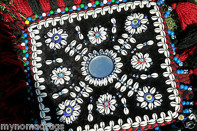 Antique Camel or Tent Decoration with Blue Eyes Textile from SE of Turkey 10 • CAD $399.56