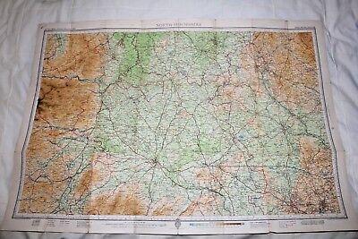 1910-1941 Antique Bartholomew's half inch map - GB sheet 23 N. Shropshire 3