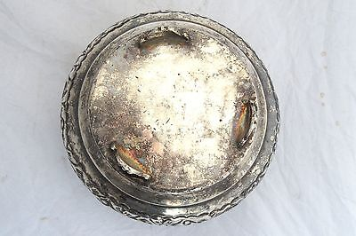 Vintage Arabian Military Silver Plated Box Coat of Arms Soldier Army Islamic 11