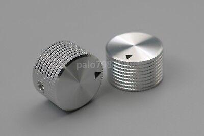 2Pcs 6.35mm HI-FI Aluminum Amplifier/DAC Volume Potentiometer Knob 25*15.5mm 2