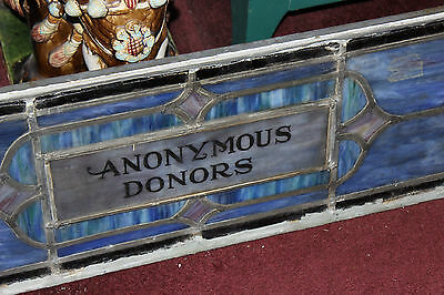 Antique Religious Church Stained Glass Window-Dedicated-Architectural Window 3