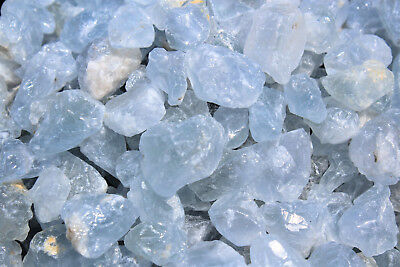 Raw Sky Blue Crystal Gemstones 100 Grams 500 Carat Lot Rough Natural CELESTITE