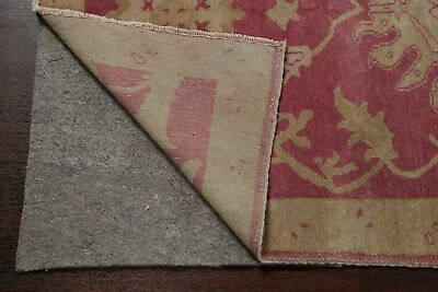 Antique Look PINK Oushak Egyptian All-Over Rug Vegetable Dye Hand-Knotted 3'x5' 10