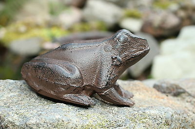 Gusseisen frosch laubfrosch garten deko metall braun figur for Deko metall