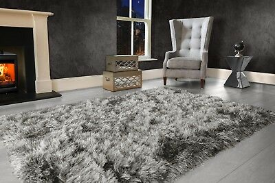 Modern Large Extra Thick 9cm High Pile SHAGGY Floor RUG with SPARKLE SHIMMER 2