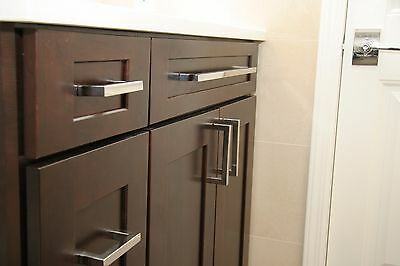 3 Of 4 Celeste Square Bar Pull Cabinet Handle Polished Chrome Stainless Steel 12mm