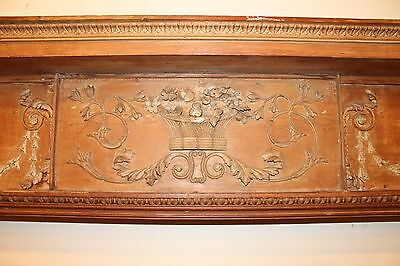 18th Century Adams Fireplace Mantel Carved Wood Basket, Urns, Floral Swags Etc. 3