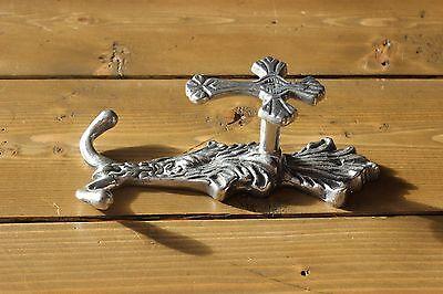 Vintage Cast Aluminum Cross Religious Coat Hook 2