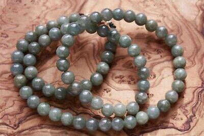 "Genuine 100% Natural Jadeite ""Grade A"" Beautiful Oily Green JADE Necklace #N291 4"