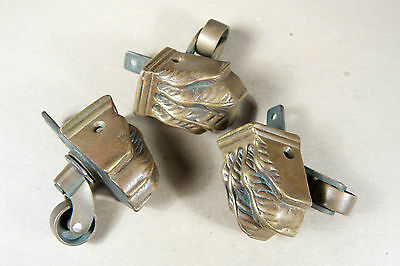 Three 'Lion's Paw' Duncan Phyfe Feet with Casters 2
