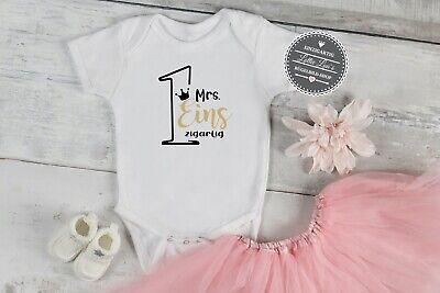 Bügelbild T-Shirt 1 erster Geburtstag Mr Eins zigartig Krone Aufbügler