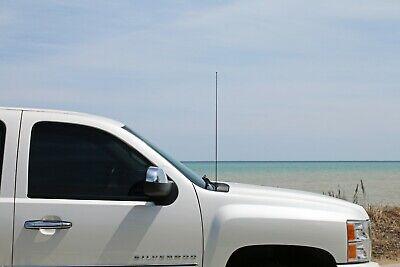 "1982-2003 Chevrolet S10 8/"" Black Stainless AM FM Antenna Mast FITS"