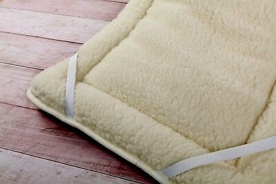 Merino Wool Bedding Vendita Coprimaterasso in Lana Merino Doppio Coprimaterasso 150 x 200 cm con Elastici agli Angoli Woolmark Mattress Topper Pad 150 x 200 cm