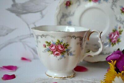 Vintage Royal Albert England TRANQUILITY Tea Cup Teacup Saucer Set, bone china 3
