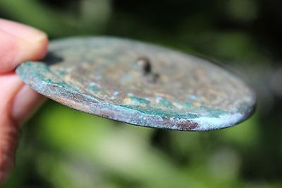 Islamic bronze mirror with Arabic ornaments, 700-800 AD, 6.5 cm 8