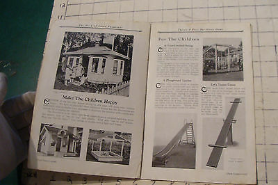 1925 THE BOOK OF LAWN FURNITURE--Long Bell lumber--CATALOG, 36pgs STAINED 9