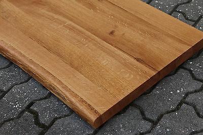 tischplatte platte eiche massiv holz mit baumkante neu tisch brett leimholz eur 200 00. Black Bedroom Furniture Sets. Home Design Ideas