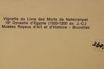 Antique Ancient Egyptian Painted Saite Period 800-400 B.C. Wooden Fragment 9