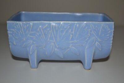 "Vintage McCoy Pottery Butterfly Blue Planter  Matte Blue 5 1/2"" 1930s 3"