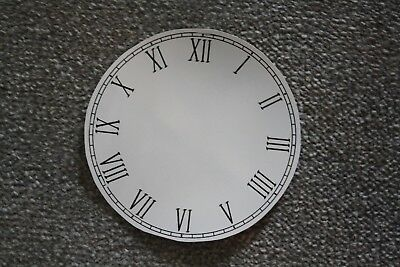 "Vintage 6"" clock face/dial ""Thin"" Roman numeral number renovation wet transfer 3"