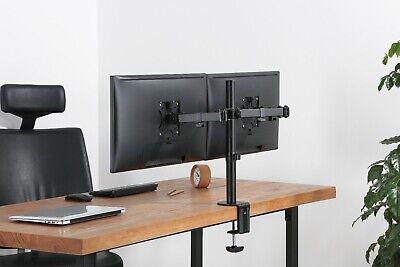 Dual Monitor Schwenkarm Tisch Halterung Doppel Halter 2x 8KG Office-414 8