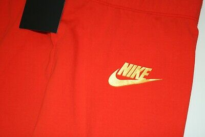 Nike Air Sport Metallic Cotton Leggings Girls - Red Aq9176-634 - M / 10-12 Years 7