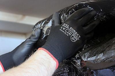 24 Pairs Nylon Pu Coated Safety Work Gloves Gardening Builders Mechanic Grip 3