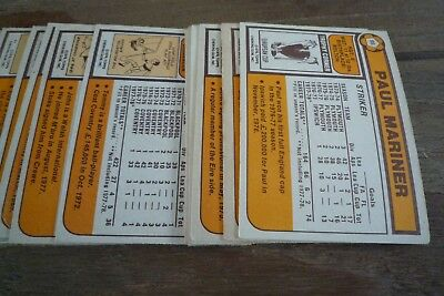 Topps Orange Back Football Cards 1978 nos 201-396 VGC! - Pick The Cards You Need 3