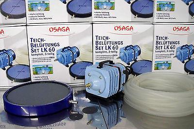 12 Ausströmer Sauerstoffstein Ø50mm + Verteiler f. Teichbelüfter Sauerstoffpumpe 6