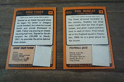 A&BC Orange Back Football Cards 1970 - First Series VGC! Pick The Cards You Need 4