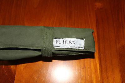 Plier Tool Roll.  4 Pocket.   Australian made with Australian canvas. 6