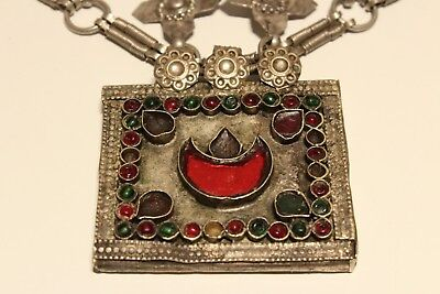 Rare Post Medieval Unique Hand Made Low Sample Silver Necklace With Crosses 3